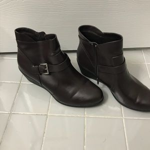 Brown Wedge Boots size 12